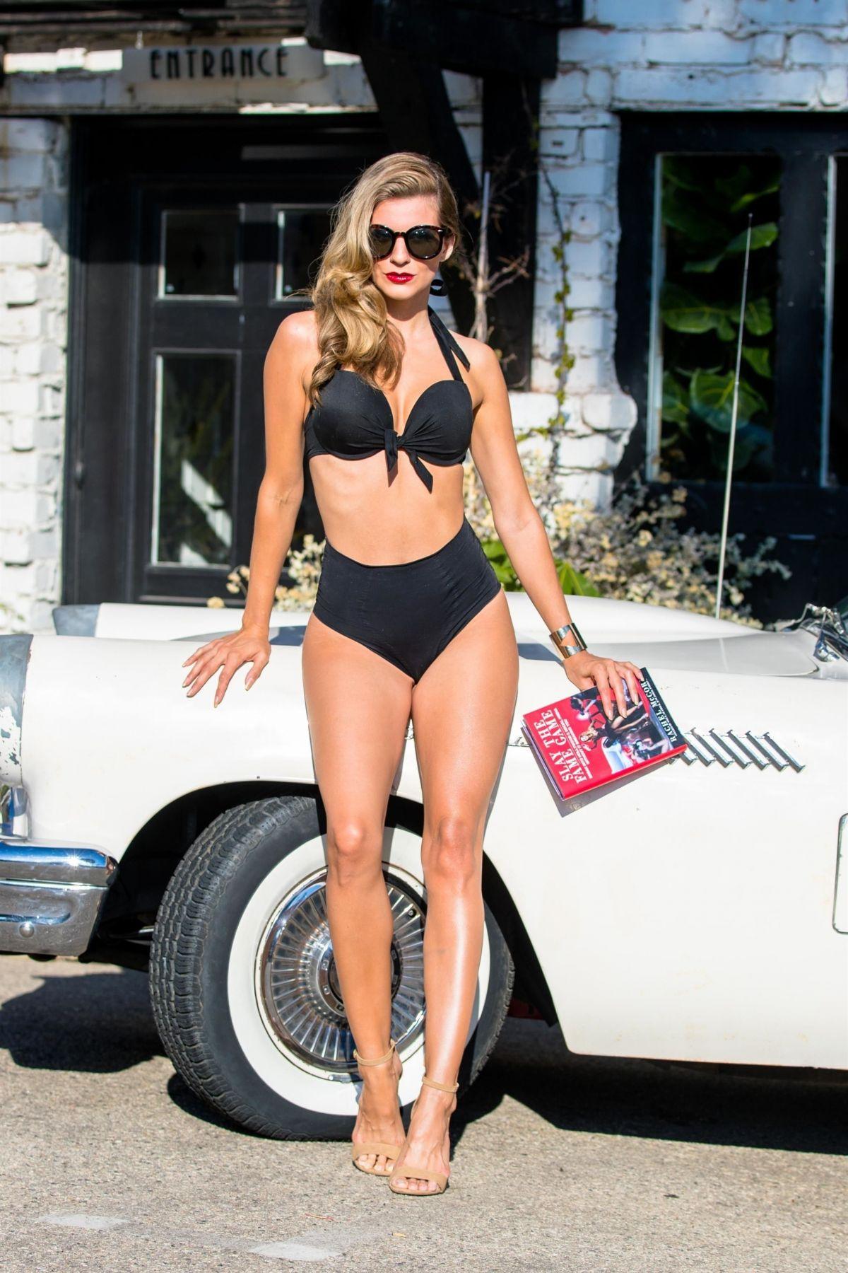 RACHEL MCCORD in Bikini on the Set of a Photoshoot in Malibu 08/27/2017