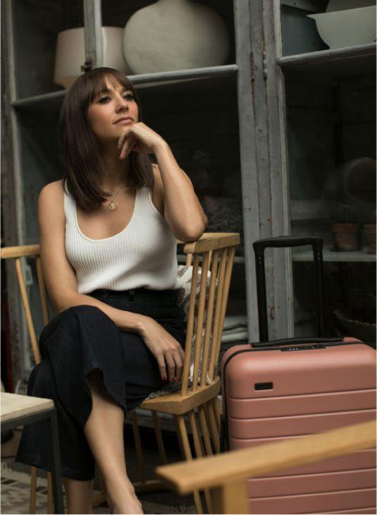 RASHIDA JONES for Away Travel Luggage 2017 Ad Campaign