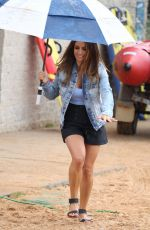REACHELLE BANNO and ADA NICODEMOU on the Set of Home and Away at Palm Beach in Sydney 08/15/2017