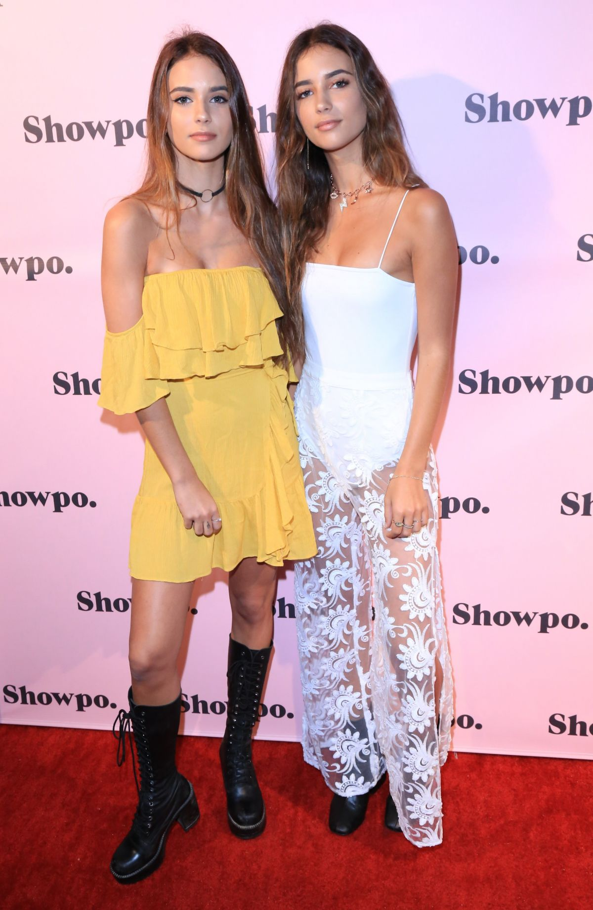 RENEE and ELISHA HERBERT at Showpo US Launch Party in Los Angeles 08/24/2017