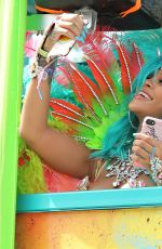 RIHANNA at Carnival in Barbados 08/07/2017