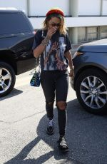 RITA ORA at Meche Hair Salon in Beverly Hills 08/18/2017