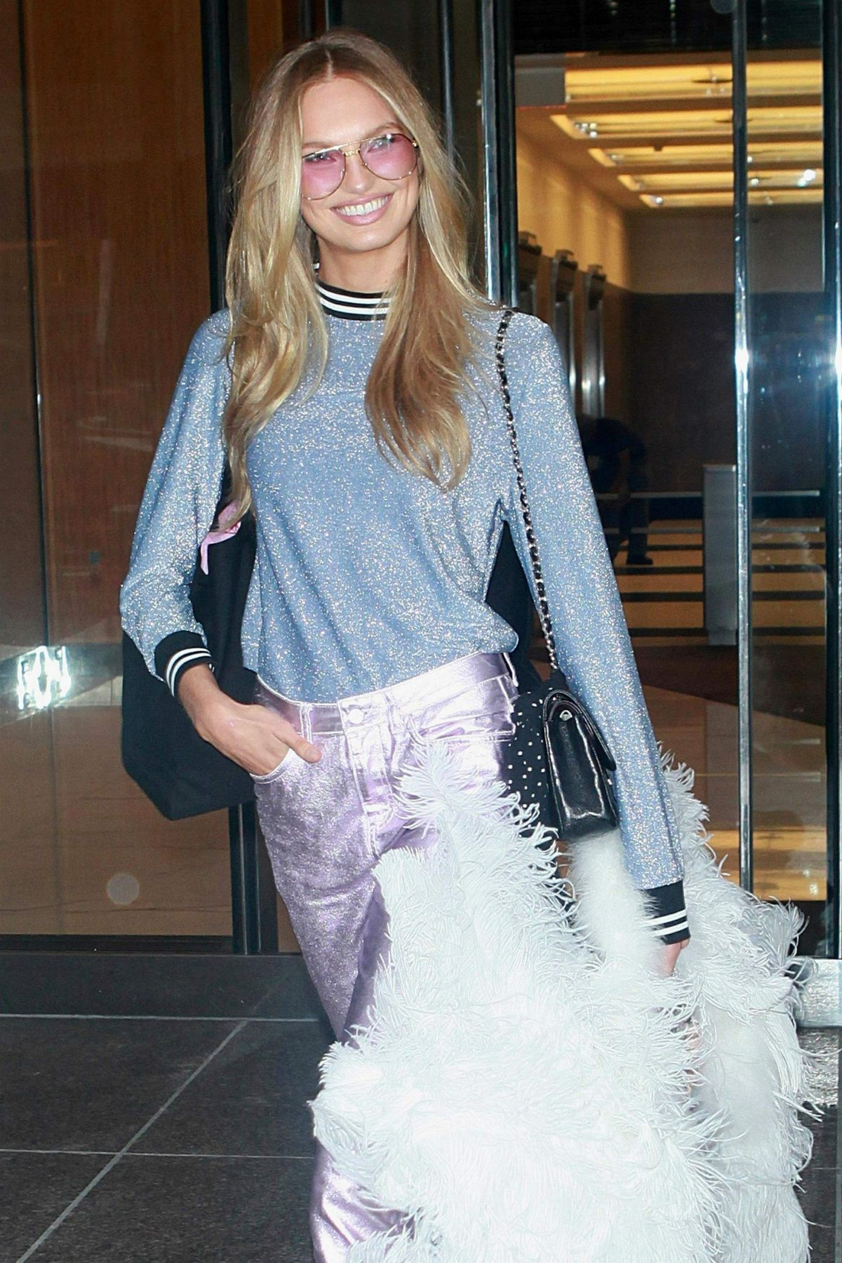 ROMEE STRIJD Arrives at Victoria's Secret Offices in New York 08/29/2017