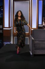 SALMA HAYEK at Jimmy Kimmel Live in Hollywood 08/17/2017