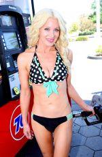 SARA BARRETT in B bikini at a Gas Station in Malibu 08/27/2017