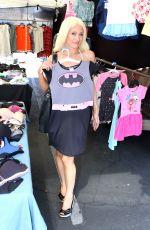 SARA BARRETT in Bikini Top and Skirt Shopping in Glendora 08/06/2017