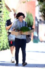SARA GILBERT Out Shopping in Los Angeles 08/10/2017