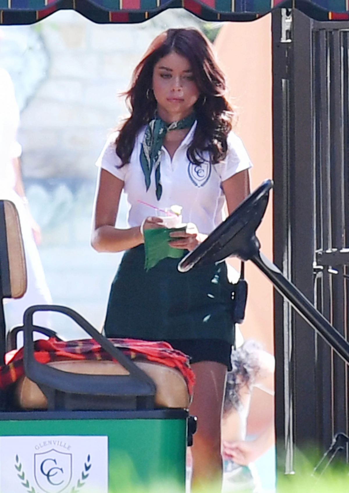 SARAH HYLAND on the Set of Modern Family in Los Angeles 08/14/2017