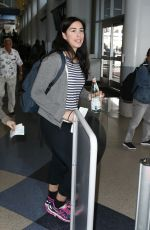 SARAH SILVERMAN at LAX Airport in Los Angeles 08/07/2017