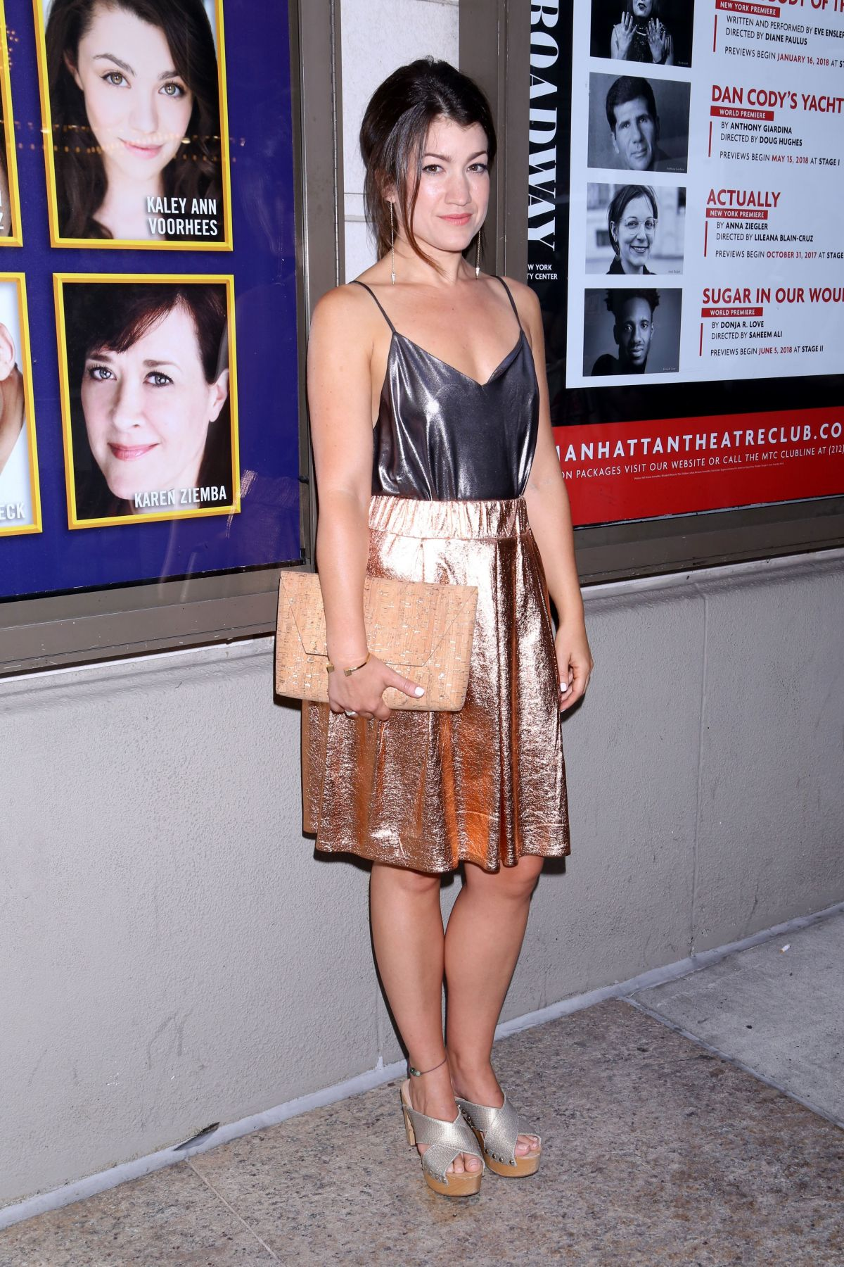 SARAH STILES at Prince of Broadway Premiere in New York 08/24/2017