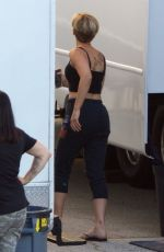 SCARLETT JOHANSSON Shows a New Tattoo on the Set of Avengers 4 in Atlanta 08/21/2017
