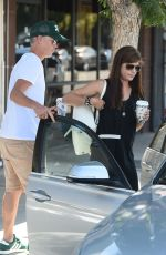 SELMA BLAIR and Ron Carlson Out for Coffee in Los Angeles 08/10/2017