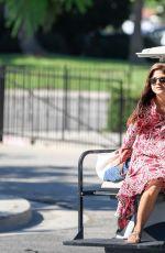 SELMA BLAIR Chauffeured in a Golf Cart in Los Angeles 08/009/2017