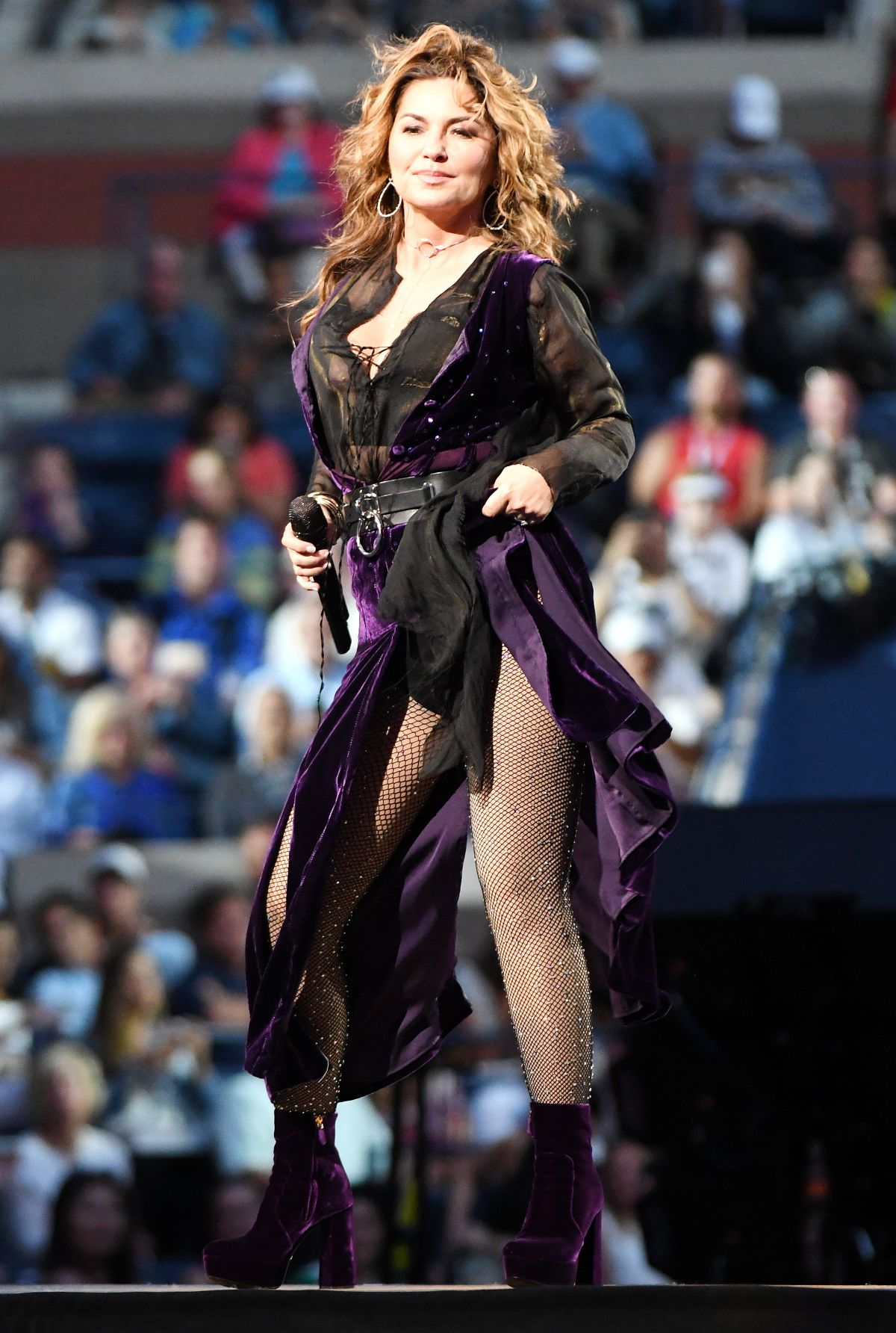 SHANIA TWAIN Performs at Arthur Ashe Stadium at Opening Night of US Open 08/28/2017