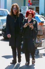 SHARON adn Ozzy OSBOURNE Shopping at Bristol Farms in West Hollywood 08/19/2017