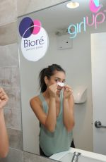 SHAY MITCHELL at Biore Tie-Dye Pore Strips to Support Girl Up Launch in New York 08/17/2017
