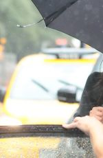 SHAY MITCHELL Out on Rainy Day in New York 05/15/2017
