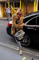 SIENNA MILLER Arrives at Apollo Theatre in London 08/10/2017