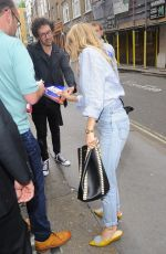 SIENNA MILLER Arrives at Apollo Theatre in London 08/11/2017