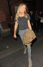 SIENNA MILLER Leaves Apollo Theatre in London 08/10/2017