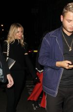 SIENNA MILLER Leaves Apollo Theatre in London 08/21/2017