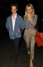 SIENNA MILLER Leaves J Sheekey Restaurant in London 08/30/2017