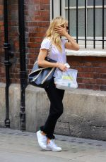 SIENNA MILLER Out and About in London 08/21/2017