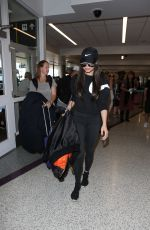 SOFIA CARSON and DOVE CAMERON at LAX Airport in Los Angeles 08/10/2017