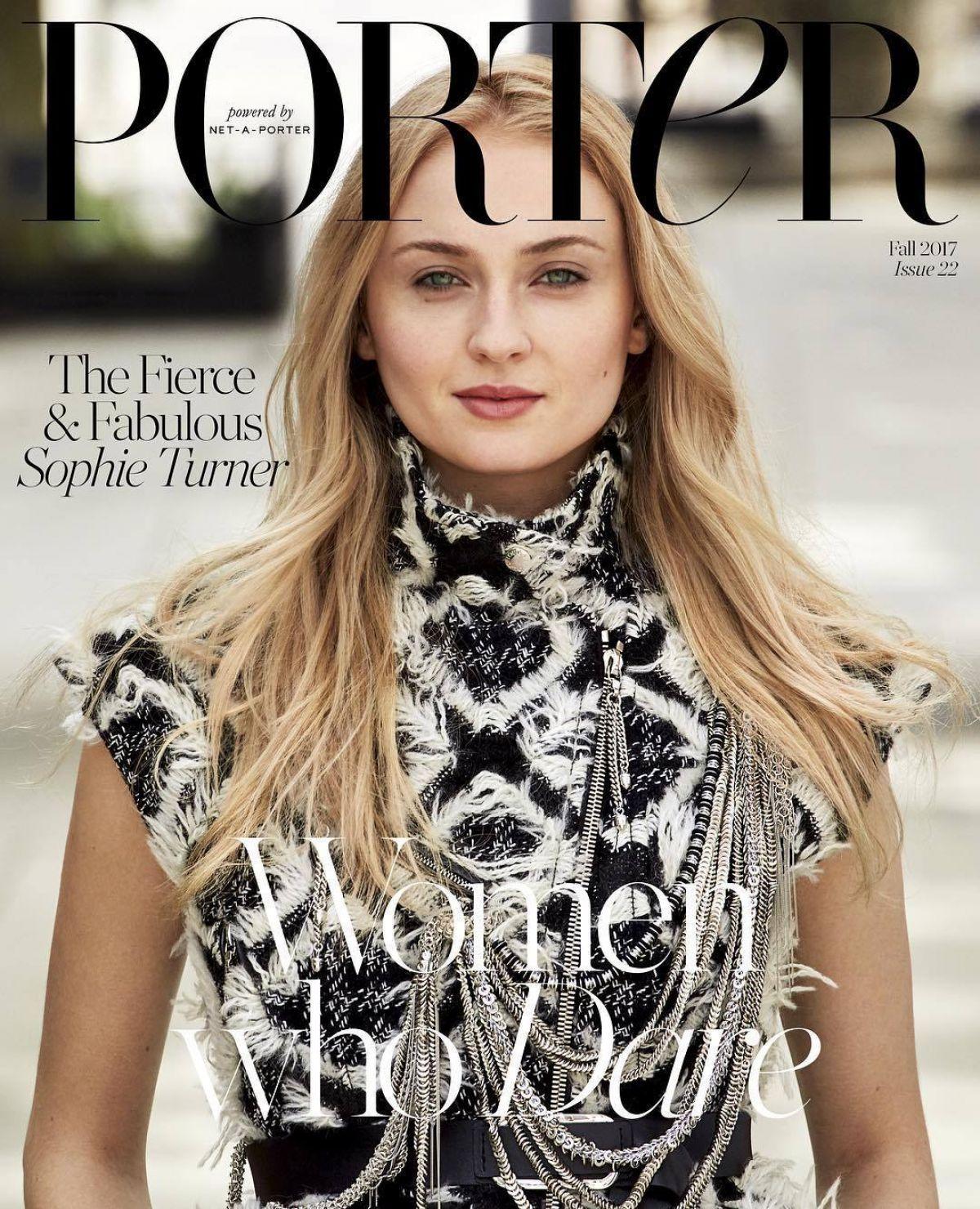 SOPHIE TURNER for Porter Magazine, Issue 22 Fall 2017
