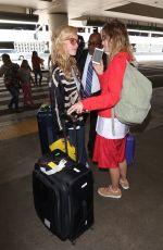 SUKI WATERHOUSE and GEORGIA MAY JAGGER at LAX Airport in Los Angeles 08/14/2017