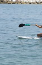 TALLIA STORM in Swimsuit Paddleboarding in Marbella 08/18/2017
