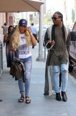 TAMAR BRAXTON Out Shopping in Beverly Hills 08/29/2017