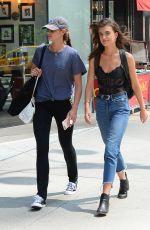 TAYLOR and MACKINLEY HILL at 2017 Victoria's Secret Fashion Show Casting in New York 08/21/2017