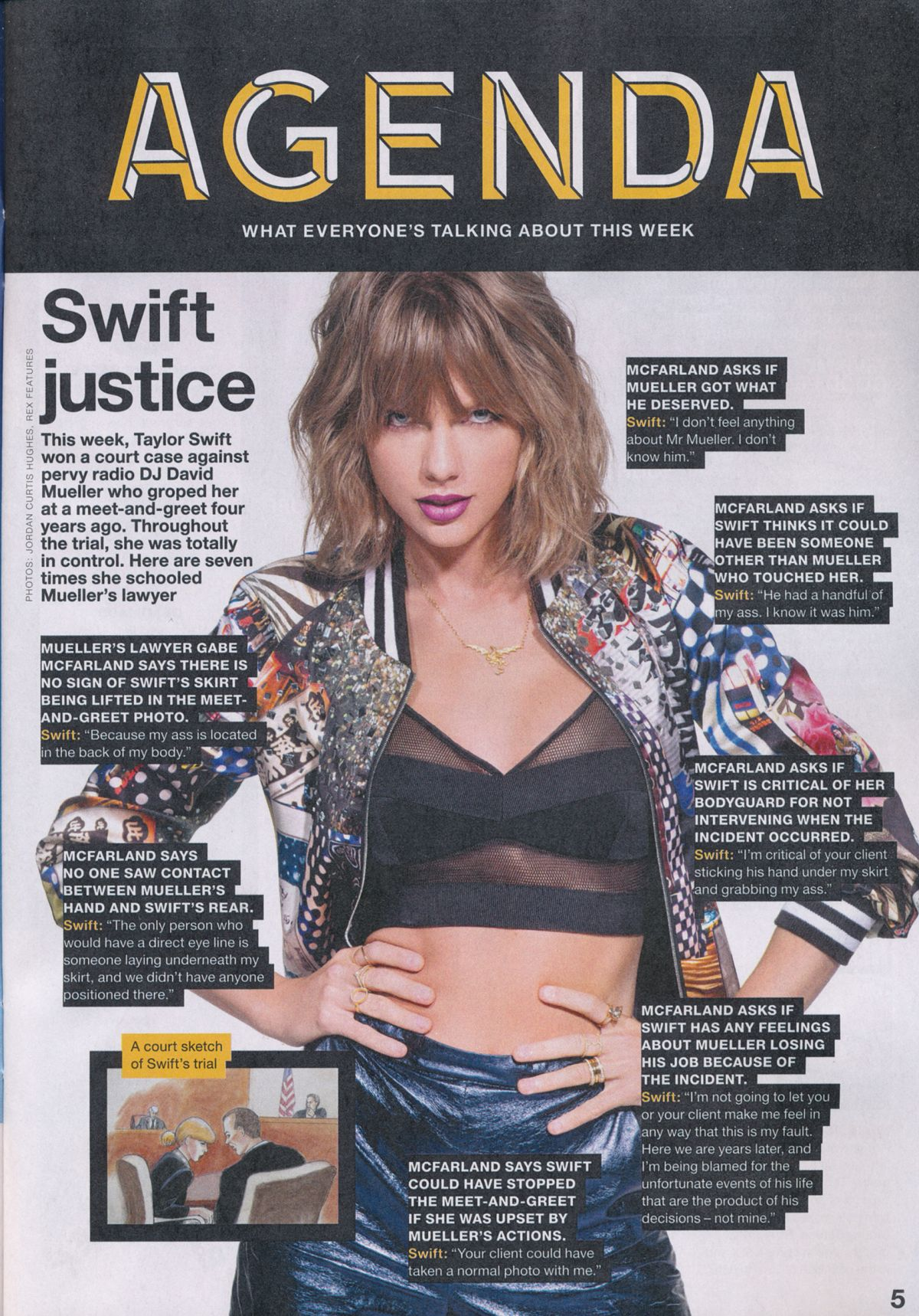 TAYLOR SWIFT in NME, August 2017