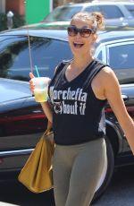 TERI HATCHER in Leggings Out in Los Angeles 08/18/2017