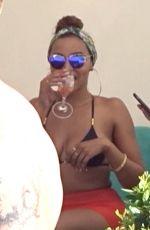 TINASHE in Bikini Top at VIP Cabana  in Las Vegas 08/13/2017