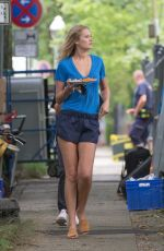 TONI GARRN on the Set of Berlin I Love You in Berlin 08/06/2017