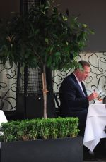 TRINNY WOODALL and Charles Saatchi at Scott's Restaurant 08/19/2017