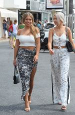 TYNE-LEXY CLARSON and CHYNA ELLIS Out for Lunch in Marbella 08/08/2017