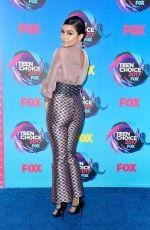 VANESSA HUDGENS at Teen Choice Awards 2017 in Los Angeles 08/13/2017
