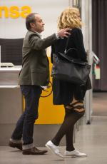 VERONICA FERRES at Tegel Airport in Berlin 08/30/2017