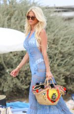 VICTORIA SILVSTEDT at Club 55 in St Tropez 08/19/2017
