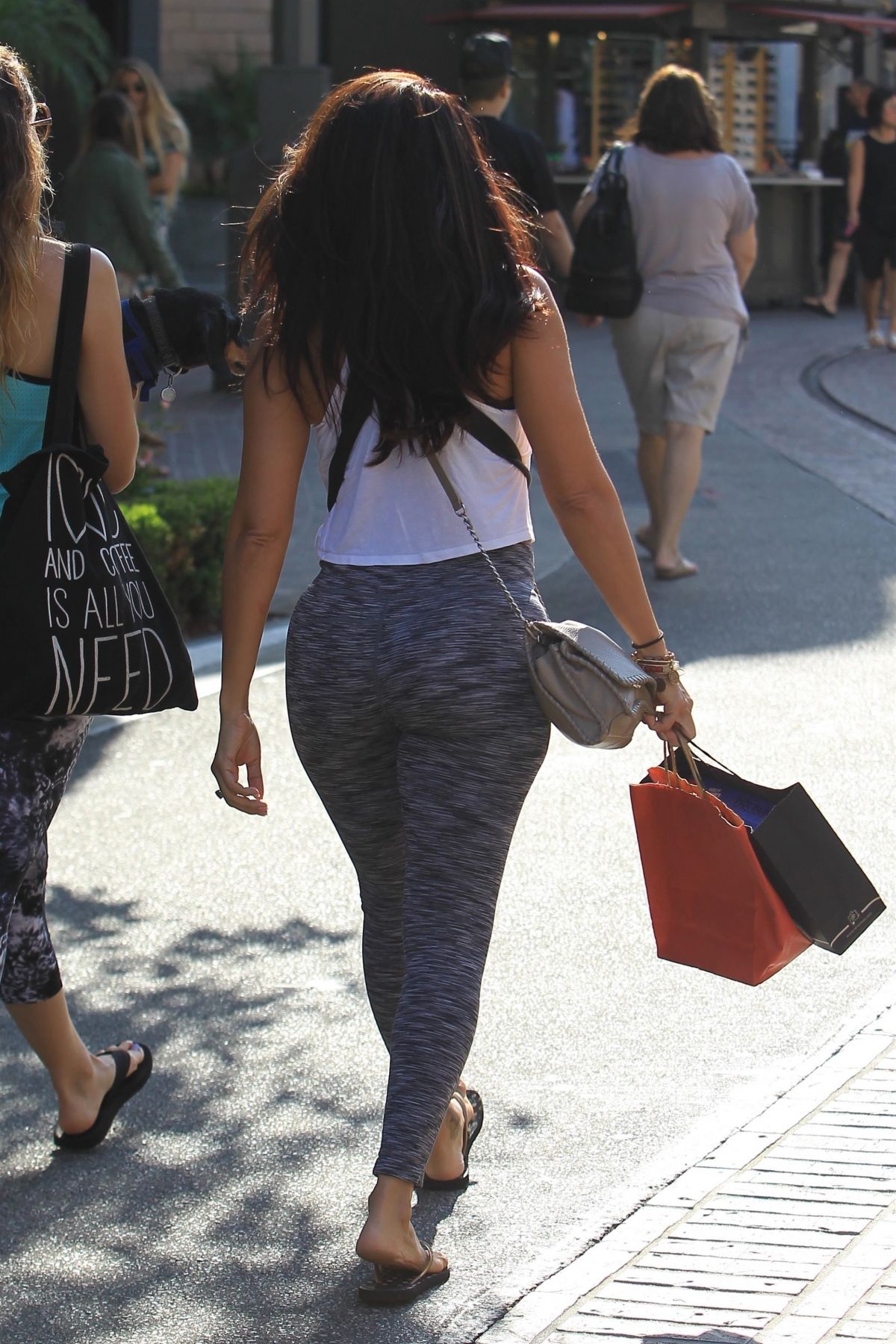 VIDA GUERRA in Tights Out Shopping at The Grove in ...