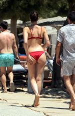 VITTORIA CERETTI in Bikini at a Beach in Mykonos 07/31/2017