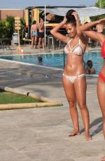YAZMIN OUKHELLOU and AMBER TURNER in Bikinis at a Pool in Marbella 08/07/2017