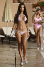 YAZMIN OUKHELLOU in Bikini at The Only Way is Essex Cast in Marbella 08/08/2017