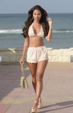 YAZMIN OUKHELLOU on the Set of The Only Way is Essex in Marbella 08/10/2017