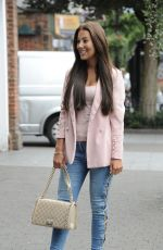 YAZMIN OUKHELLOU Shows off Her Nose Job as She Films Scenes for Towie in Essex 08/22/2017