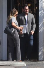 HILARY DUFF and Mike Comrie Leaves Sweet Butter in Studio City 08/30/2017