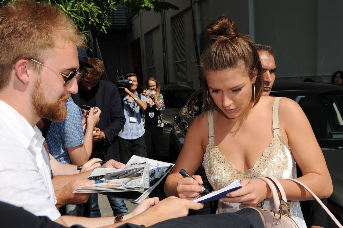 ADELE EXARCHOPOULOS Leaves Her Hotel at 74th Venice Film Festival 09/08/2017